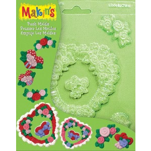 Makins USA Push Clay Molds Floral